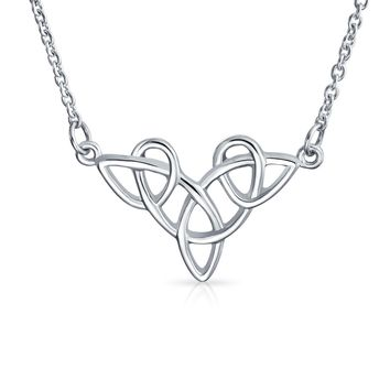 Celtic Love Knot Triquetra Trinity Necklace Sterling Silver Pendant