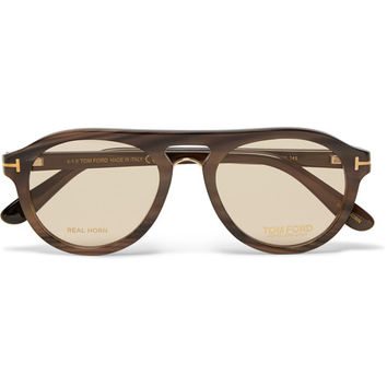 Tom Ford - Private Collection Aviator-Style Horn Optical Glasses