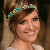 Let Go & Be Free Headband- Lime