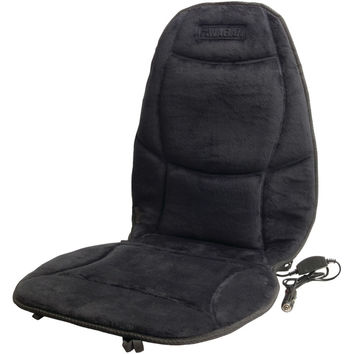 Wagan Tech Velour Heated Cushion (black)