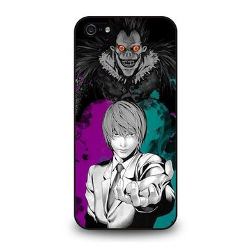 light and ryuk death note iphone 5 5s se case cover  number 1