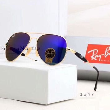 RayBan Ray-Ban Fashion Sunglasses Summer Style Sun Shades Eyeglasses Glasses Sunglasses Navy Blue I-A-SDYJ