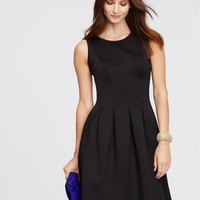 Pleated Flare Dress