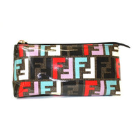 Fendi 7N0038 Pastello Cosmetic Pouch Large - Black