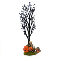 Halloween HAUNTED HALLOWEEN TREE Polyresin Skeleton Pumpkins Gravestone Lc5475
