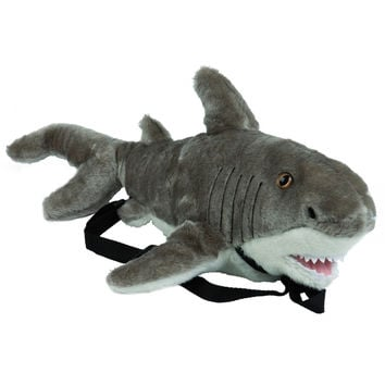 Great White Shark Plush Backpack