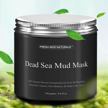 VONE059 1PC Dead Sea Mud Mask Deep Cleaning Hydrating Acne Blemish Black Mask Clearing Lightening Moisturizer Pore Face Mask Makeup Set