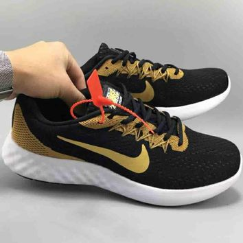 NIKE LUNAR SKYELUX for male trend color running shoes F-CSXY black+gold