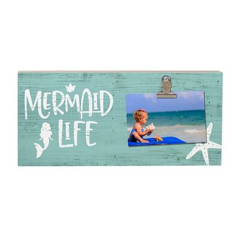Mermaid Life Photo Clip Board - Freestanding 11-3/4-in