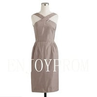 Sheath/Column Taffeta  Knee-Length Bridesmaid/Evening/Prom Dress