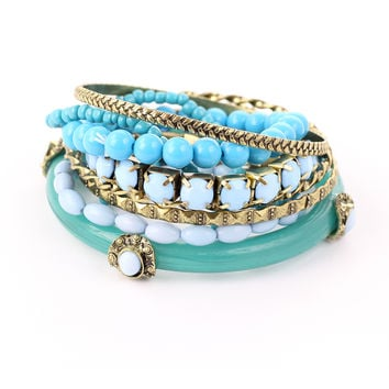 Mixed Turquoise Bracelet Pack Green