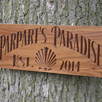 Custom Rustic Signs For Cabin, Custom Lake House Signs, Rustic Family Established Signs, Benchmark Custom Signs Walnut JS