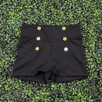 Portsmouth Black Sailor Shorts