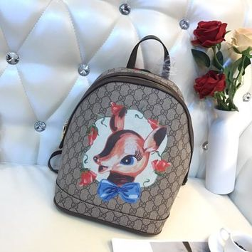 GUCCI GG Supreme Fawns Backpack