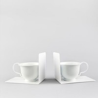 tea cup bookends