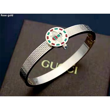 GUCCI 2019 new women's simple and stylish wild jewelry bracelet rose gold