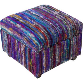 Saturday Night Ottoman Purple