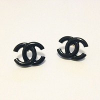 Medium Size Chanel Inspired Earrings