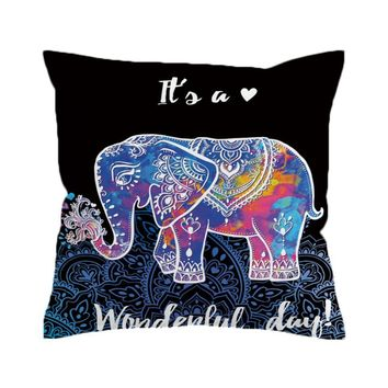 Positive Baby Elephant Pillow Cover