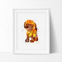 Zuma, Paw Patrol Watercolor Art Print