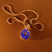Glow in the Dark Jewelry - Blue Glowing Necklace - Pendant - Gifts for Her - Birthday Gift - Water Drop - Little Sun