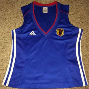Sale!! Vintage Adidas JAPAN sleeveless women's soccer jersey Football shirt