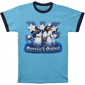 Cheech & Chong Men's  Stars T-shirt Blue