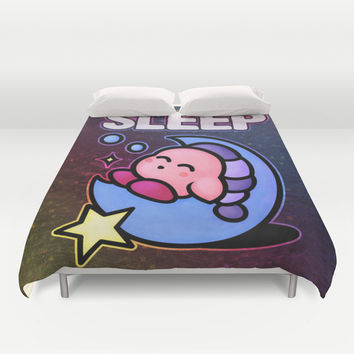 Kirby Sleep Duvet Cover by Likelikes