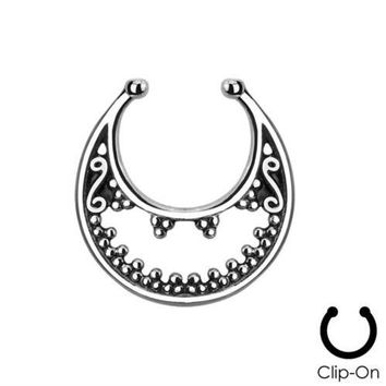 Belly Button Rings Piercing Navel 3 Pcs2015 New Fake Nose Ring Clip On Septum For Clicker Non Piercing Hoop Rose Colored Luna