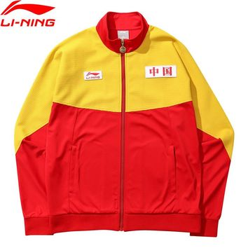 LiNing NYFW Unisex Basketball Series Vintage Coat CHINA LINING Loose Fit Printing LiNing Sport Jackets AWDN787 MWJ2526