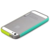 Zenus Walnutt Apple iPhone 5S Bumper Trio Case Cover [Green/Mint] High Quality TPU + Polycarbonate Bumper Carrying Case for iPhone 5