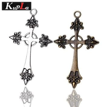 Classic Vintage Metal Religious Cross Charms DIY Jewelry Handmade Cross Pendant Charms for Jewelry Making 10 pieces/lot C5251