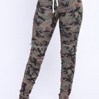 Ride Or Die Moto Jogger Pants - Camo