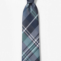 NARROW SILK TIE - PLAID from EXPRESS