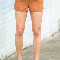 Road Trip Shorts in Camel