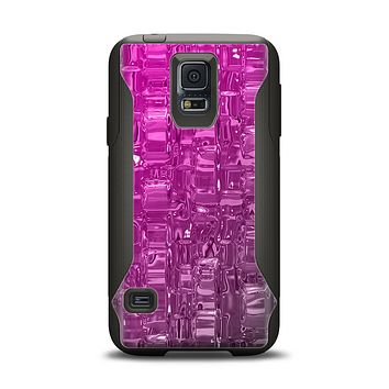 The Hot Pink Mercury Samsung Galaxy S5 Otterbox Commuter Case Skin Set