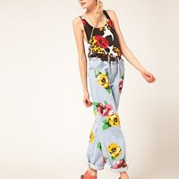 Ashish Sequin Vest In Poppy Leopard at asos.com