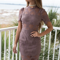 New Direction Moon Dust Lace Dress
