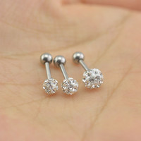 cartilage earring,helix earrings,diamond earrings,tragus earring