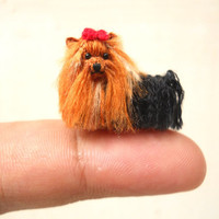 Yorkshire Terrier - Tiny Crochet Miniature Dog Stuffed Animals - Made To Order