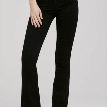 Fleetwood High Rise Flare Jean in All Black