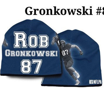 New England Patriots Rob Gronkowski #87 NFLPA Synthetic Stretch Beanie One Size Unisex Adult