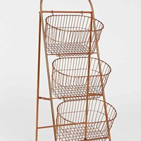 Ladder Storage Basket- Copper One