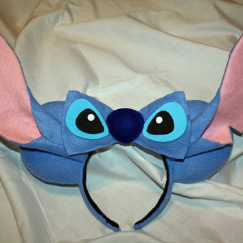Blue Alien Mouse Ears Headband
