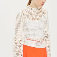 Lace Trumpet Sleeve Top - Sale & Offers