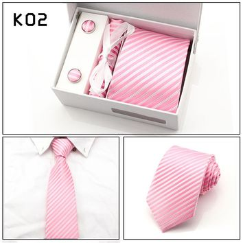 Men's Ties Sets Tie - Cufflinks - Pocket Square with gift box