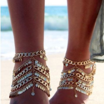 hot cute tassel anklet accessories beach