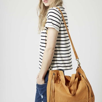 Slouchy Leather Shoulder Bag - Topshop