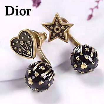 Dior 925 Silver Needle Fashion Women Retro Pendant Earrings Accessories Jewelry