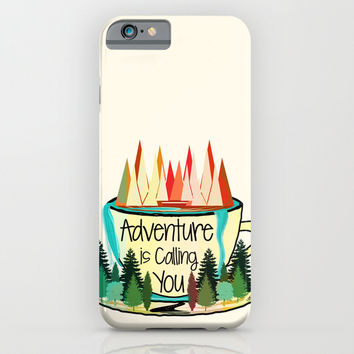 Adventure is Calling You iPhone & iPod Case by Famenxt